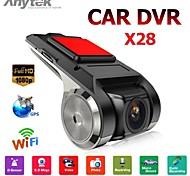 economico -Anytek X28 1080p Avvia la registrazione automatica Automobile DVR 150 Gradi Angolo ampio Dash Cam con Wi-fi Registratore per auto
