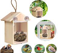 abordables -bricolage meunier nid d'oiseau maison en bois fait à la main cage écologique nichoir extérieur jardin cour suspendu