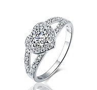 abordables -Bague de fiançailles d'anniversaire en argent sterling 925 avec zircon cubique halo, ensemble de mariée taille 10