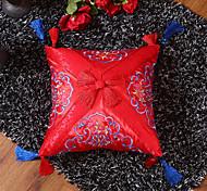abordables -oreiller extrême exquis petit oreiller de style chinois brodé en satin comprend un noyau