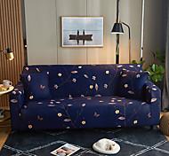 abordables -fleurs et feuilles impression housses tout-puissantes étanches à la poussière housse de canapé extensible housse de canapé en tissu super doux avec une taie d'oreiller gratuite