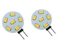 economico -2 pezzi 2 W Luci LED Bi-pin 200 lm G4 6 Perline LED SMD 5730 Bianco caldo Bianco 9-30 V