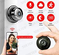 abordables -sdeter hd 1080p mini caméra wifi sans fil sécurité à domicile caméra sans lumières caméra de surveillance ip cctv vision nocturne ir détection de mouvement audio bidirectionnel bébé moniteur p2p