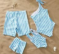 abordables -Regard de la famille Tous Lots de Vêtements pour Famille Maillot de Bain Bleu & blanc Rayé Imprimé Bleu Eté