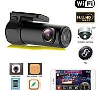 abordables -S600 HD 1280 x 720 / 1080p Vision nocturne DVR de voiture 170 Degrés Grand angle Aucun écran (sortie par APP) Dash Cam avec Vision nocturne / Surveillance du stationnement / Détection de Mouvement Non