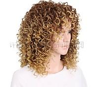 economico -parrucche del commercio estero donne europee e americane colore sfumato parrucche ricci corte africane signore rosa copricapo in fibra chimica con maglia interna