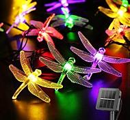 economico -luci a stringa solare decorazione di nozze 6.5m luci a led per esterni a libellula solare luci a stringa per fata solare per patio di nozze decorazione da giardino per feste lampada solare per esterni