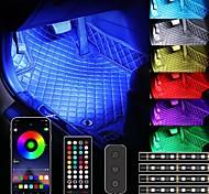 abordables -otolampara 4pcs 36w led éclairage intérieur de voiture bande usb app télécommande lampe ambiante plusieurs modes de bricolage sous les lumières décoratives du tableau de bord