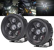 abordables -otolampara 3.5 pouces 60w moto projecteur LED rond feux de travail projecteur de pod de conduite hors route pour honda / harley / kawasaki / suzuki etc.