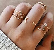 economico -mondo dei gioielli coreani set di anelli a stella transfrontalieri europei e americani set di 7 pezzi anello di nozze femminile retrò semplice creativo