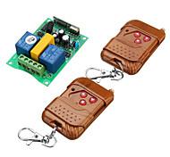 economico -interruttore relè ac220v 2ch / uso per motore / arresto su giù / codice di apprendimento interruttore relè 10a / 433 mhz