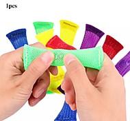 abordables -5 pièces jouets sensoriels billes balle autisme adhd thérapie d'anxiété jouets soulagement du stress main fidget jouets tressé maille facile à plier avec du marbre