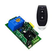 economico -ac110v 220v 2ch relè interruttore codice di apprendimento ricevitore per luce / led interruttore di accensione / 433 mhz interruttore momentaneo può cambiare