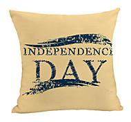 economico -doppia stampa laterale fodera per cuscino giorno dell'indipendenza 1pc lino morbido decorativo quadrato copriletto federa federa per divano camera da letto 45 x 45 cm (18 x 18 pollici) lavabile in