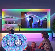 economico -luci a strisce principali sincronizzazione musicale smart led 10m 32.8ft rgbw luminose luci tiktok 2340leds smd 2835 cambia colore con 40 tasti controller bluetooth remoto per la casa