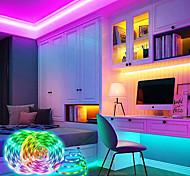 abordables -bandes lumineuses led lumières intelligentes 5m ensembles de lumière 10m lumières tiktok rvb 150300 leds smd5050 10mm 1set support de montage 1 jeu de contrôle d'application rgb auto-adhésif 12v