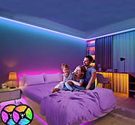 abordables -10m LED Strip Lights RGB LED Light Strip Set Kit 5m 5050 Flexible 300 LED Ruban Lumières Changement de Couleur avec Télécommande pour Cuisine Chambre Bar Noël Décor À La Maison