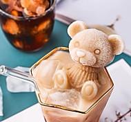 economico -vassoi per cubetti di ghiaccio a forma di orso simpatico vassoio per cubetti di ghiaccio dai colori vivaci con coperchio stampo per gelato al cioccolato