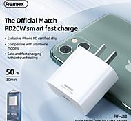 economico -Remax 20 W Potenza di uscita USB C Caricatore PD Caricatore veloce Caricatore del telefono Caricabatterie portatile Caricabatteria di Muro Portatile Ricarica veloce USB-PD Per Xiaomi MI Cellulare