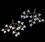 economico -accessori per capelli da sposa coreani, orecchini con perline di cristallo a filo di rame che preservano il colore, ciondolo a forcina accessori rossi antichi a rete fai da te