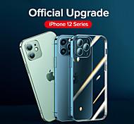 economico -telefono Custodia Per Apple Per retro iPhone 12 Pro Max 11 Pro Max Resistente agli urti Placcato Trasparente Transparente TPU