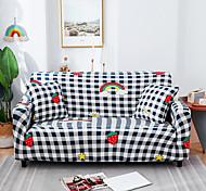economico -Grid cartoon print fodera per divano elasticizzata onnipotente antipolvere tessuto super morbido con una custodia boster gratuita