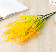 abordables -simulation de riz en plastique et arrangement de fleurs d'épis de blé avec de l'herbe 5 un bouquet 40cm