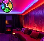 abordables -LED bande lumières rgb 5m tiktok lumières non étanches 24w 2835 8mm 44key kit de contrôleur ir avec ligne de connecteur mâle DC