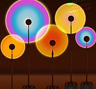 abordables -Lampe de projecteur coucher de soleil atmosphère arc-en-ciel LED veilleuse pour la maison chambre café fond décoration murale lampe de table usb 75cm / 42.5cm / 37.5cm