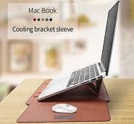 abordables -protection combinée / housses en cuir PU de couleur unie pour macbook air 13 pouces / macbook 12 ''