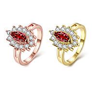 economico -Anello Zircone cubico Classico Oro rosa Oro Rame Fiore decorativo Di tendenza 1 pc 7 8 / Per donna