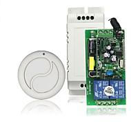 economico -interruttore relè ac110v 220v 2ch / relè 10a / ricevitore codice di apprendimento per luce / accensione led / 433 mhz