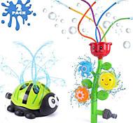 abordables -arroseur extérieur de jet d'eau pour les enfants, fleur avec tubes ondulés&en forme de coccinelle d'arroseurs rotatifs pour jouer à l'extérieur les jours d'été, éclabousser le jouet de jardin