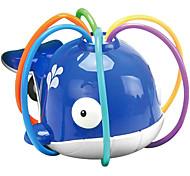 abordables -jouet d'arrosage pour enfants, baleine avec 6 tubes d'oscillation jouet d'eau d'arrosage créatif, jouets d'eau d'arrosage de tournesol tournants d'été, jouets de jeu de douche pour les tout-petits