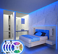 abordables -bande de lumières led application étanche contrôle intelligent synchronisation de la musique bluetooth 20m (4x5m) lumières rgb tiktok flexibles 5050 smd 600 leds ir contrôleur bluetooth à 24 touches