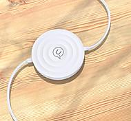 economico -USAMS 12 W Potenza di uscita Pad di ricarica wireless Caricatore senza fili Portatile Caricatore senza fili Zero Per Cellulare Apple iPhone 12 11 pro SE X XS XR 8 Samsung Glaxy S21 Ultra S20 Plus S10