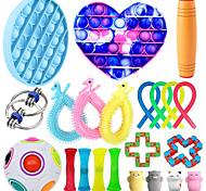 economico -giocattolo squishy sollievo dallo stress del giocattolo sensoriale agitarsi 22 pezzi mini giocattoli creativi di decompressione di sollievo dallo stress e dall'ansia lento aumento di plastica metallo