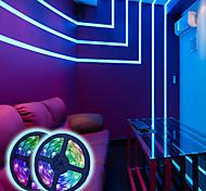 abordables -lumières de bande led éclairage à changement de couleur rgb bandes de 5 m lumières de bande 300 led 2835 lumière de corde de bande avec 44 touches télécommande éclairage d'ambiance dimmable pour la