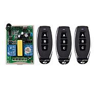 economico -AC 220v 2ch 10a relè interruttore / telecomando senza fili interruttore motore 2ch ricevitore per motore su arresto giù / 433 mhz