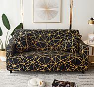 abordables -1 pc housse de canapé géométrique noir lignes jaunes élastique salon canapé pour animaux de compagnie housse de protection inclinable