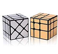 abordables -ensemble de cube de vitesse moyu cube magique lot de miroir d'or s cube et argent cube de miroir de vent irrégulière speedcubing 3x3x3 speedcube boîte torsadée