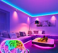 abordables -bande de lumières led application bluetooth à distance 20m 600leds 15m 45leds bandes rgb lumières smd5050 bandes flexibles musique de corde de micro intégrée lumières intelligentes pour la décoration