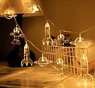abordables -LED astronaute de l'espace guirlande lumineuse batterie ou opération usb 1.5m 3m 6m planète fusée led guirlande lumineuse guirlande lumineuse chambre d'enfant fête de vacances lampe de décoration