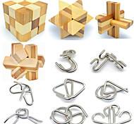 abordables -Puzzle 3D Métal Casse-tête Puzzles Jeu d'esprit Jeu de jouets pour adolescents et adultes Lot de 12 pièces