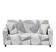 abordables -housse de canapé lignes simples imprimer housses anti-poussière stretch housse de canapé en tissu super doux adapté pour 1 à 4 canapé coussin et canapé en forme de l (vous obtiendrez 1 taie d'oreiller