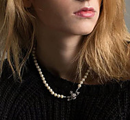 abordables -collier pendentif saturne collier de perles mariage de dames cristaux de mariée plaqué or