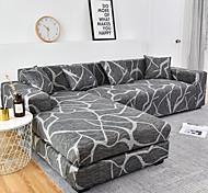 abordables -1 pc géométrique lignes grises housse de canapé housse de canapé élastique au salon canapé pour animaux de compagnie housse de canapé inclinable housse de canapé