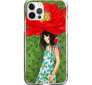 abordables -belle étui à fleurs pour apple iphone 12 11 se2020 étui de protection design unique housse antichoc tpu étui transparent pour iphone 12 pro max xr xs max iphone 8 7