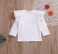 economico -Bambino (1-4 anni) Da ragazza T-shirt Manica corta Tinta unita Con stampe Bianco Nero Bambini Top Estate Attivo Standard 2-8 anni
