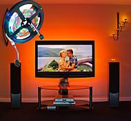 economico -luci a strisce led alimentate da usb 2m luci tiktok flessibili 5v smd 120 x 2835 8mm colore con 24 tasti telecomando ir per tv illuminazione di sfondo tavoletta labtop decorazione della casa